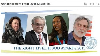 The Right Livelihood Award 2015