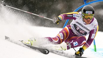 ALPINE-SKIING/ Jansrud of Norway clears gate during men's Alpine Skiing World Cup giant slalom in Garmisch-Partenkirchen