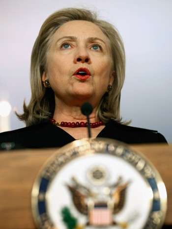Hilary clinton - Utanriksministeren i USA, Hilary Clinton. - Foto: CHIP SOMODEVILLA / Afp