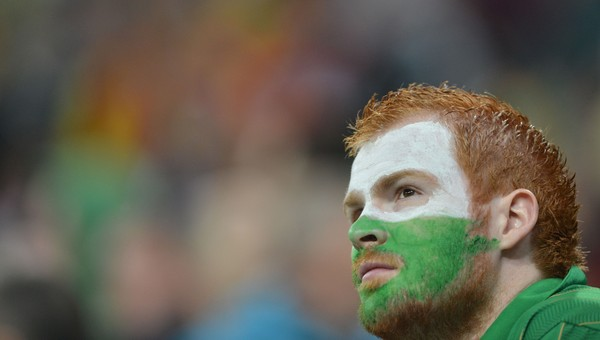 FBL-EURO-2012-IRL-ESP-MATCH14 - Irlands supportere hadde lite å juble for. - Foto: GABRIEL BOUYS / Afp