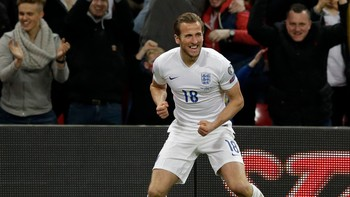 Britain England Lithuania Euro Soccer Harry Kane