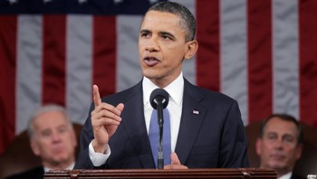 Barack Obama - Barack Obama under sin forrige «State of the Union»-tale. - Foto: POOL / Reuters