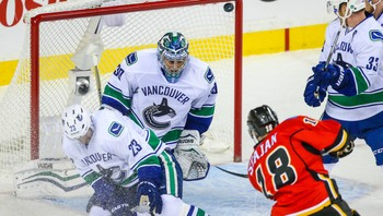 NHL/ NHL: Stanley Cup Playoffs-Vancouver Canucks at Calgary Flames