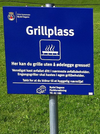 Plass for engangsgrill