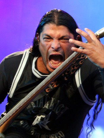 Rob Trujillo - GOOD: - You can get away with that because the expression on his face is good, is Costello's verdict on this photo of Rob Trujillo by the author. - Foto: Roy Hilmar Svendsen / NRK