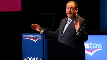 US-HUCKABEE-ANNOUNCES-HIS-INTENTIONS-FOR-THE-2016-PRESIDENTIAL-R