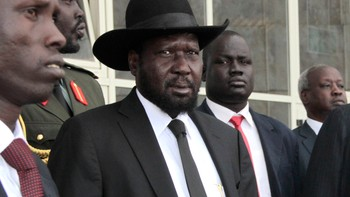 SOUTHSUDAN-UNREST/ South Sudan's President Kiir leaves after attending peace talks with the South Sudanese rebels in Ethiopia's capital Addis Ababa