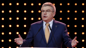 OLYMPICS-IOC/ International Olympic Committee's (IOC) President Thomas Bach speaks during the Almaty 2022 Presentation at the 128th IOC Session in Kuala Lumpur