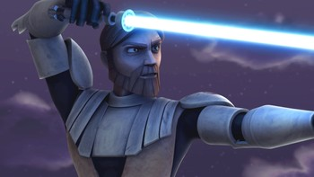 "Obi-Wan Kenobi i ""Star Wars: The Clone Wars"". - Foto: Foto/Copyright: © Lucasfilm Ltd. & TM. All rights reserved. /"