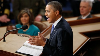 President Barack Obama under State of the Union 2013