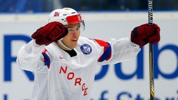 ICEHOCKEY-WORLD/ Norway's Norstebo celebrates his goal during their ice hockey World Championship game against Slovakia in Ostrava
