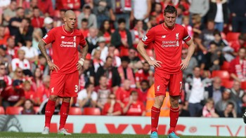 Martin Skrtel, left, and James Milner