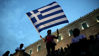 Demonstranter i Hellas