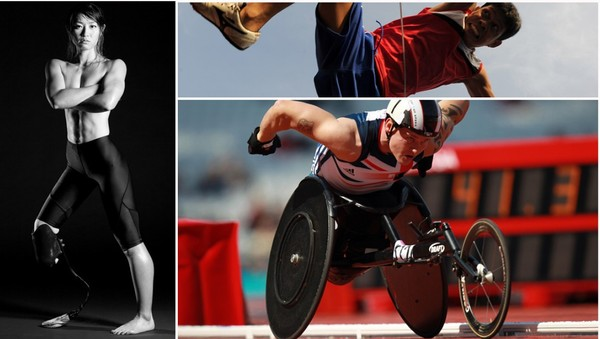 Paralympics - Dette er tre av utøverne som skal kjempe om medaljer i de paralympiske leker 2012. F.v. Maya Nakanishi (Japan, sprinter), David Weir (Storbritannia, mellomdistanse) og Andy Avellana (Filippinene, høyde).NTB Scanpix
