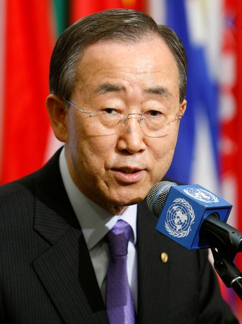 Ban Ki-moon - FNs generalsekretær Ban Ki-moon. - Foto: UN Photo, Mark Garten / Scanpix/AP