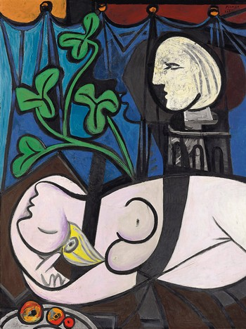 Pablo Picasso Nude, Green Leaves and Bust - Pablo Picassos «Nude, Green leaves and Bust», som ble solgt for 640 millioner kroner. - Foto: HO / Reuters