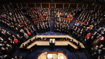 Barack Obamas «State of the Union»-tale - Fra Barack Obamas forrige «State of the Union»-tale. - Foto: TIM SLOAN / Afp