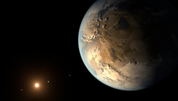 SPACE-EARTH/PLANET Kepler-186f planet seen in NASA artist's concept