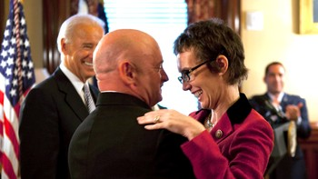 Gabrielle Giffords, Mark Kelly, Joe Biden