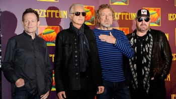 Led Zeppelin - LED ZEPPELIN: John Paul Jones, Jimmy Page, Robert Plant og Jason Bonham - Foto: Evan Agostini / Ap