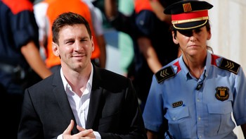 Lionel Messi ankommer retten i september