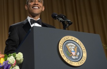 Video Obamas standup-suksess i Washington - Foto: Nyhetsspiller /
