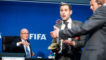 Switzerland FIFA Blatter Protest