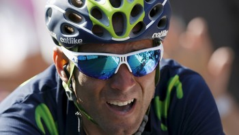CYCLING-FLECHE/ Valverde crosses the finish line to win the Fleche Wallonne Classic cycling race in Huy