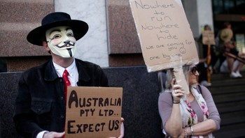 Occupy Sydney-demonstrasjon 15.oktober - Occupy Sydney-demonstrasjon i Australia - Foto: STRINGER/AUSTRALIA / Reuters