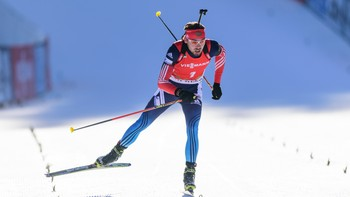 BIATHLON-WORLD-MEN - Anton Shipulin vant til slutt fellestarten for menn. - Foto: Jure Makovec / Afp