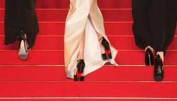 "FILMFESTIVAL-CANNES/ The shoes of guests are pictured as they walk on on the red carpet before the screening of the film ""Marguerite et Julien"" in competition at the 68th Cannes Film Festival in Cannes"