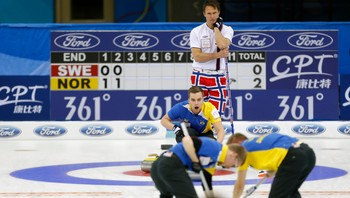 Norge-Sverige Curling - Foto: CHINA DAILY / Reuters