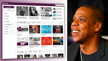 fotomontasje av Wimp og Jay-Z - SOLGT: Strømmetjenesten Wimp har 12,5 millioner betalende abonnenter og over 50 millioner aktive brukere i 58 markeder. - Foto: Wimp.com/Rich Schultz/Getty Images /