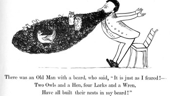 Edward Lear, Limerick 1 - Foto: Edward Lear, Limerick 1 fra The Book of Nonsense, Londoin New York 1888. Public domain /