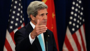 CHINA-USA/ U.S. Secretary of State Kerry speaks during a news conference in Beijing - Foto: JIM BOURG / Reuters