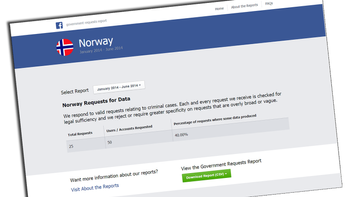 Facebook - government request report - Norway