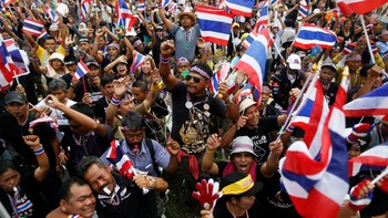 Protester i Thailand