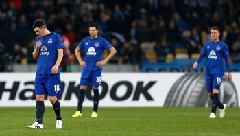 FOOTBALL/ Dynamo Kiev v Everton - UEFA Europa League Third Round Second Leg