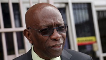 SOCCER-FIFA/ Trinidad and Tobago's former National Security Minister and former FIFA Vice President, Jack Warner, leaves the offices of the Sunshine Newspaper which he owns, in Arouca
