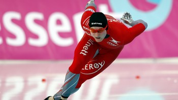 SPEEDSKATING/ Hvammen of Norway competes during the men's 500m event at the Essent ISU World Single Distances Championships 2013 in Sochi - Foto: GRIGORY DUKOR / Reuters