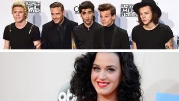 One Direction og Katy Perry - Foto: FREDERIC J. BROWN/Jordan Strauss / Afp/Ap/Invition