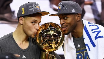 Stephen Curry og Andre Iguodala