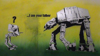I am your father. Bilde av Dolk. - Foto: http://www.graffiti.no /