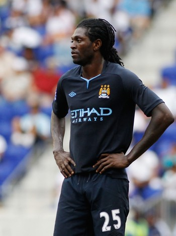 Emmanuel Adebayor - Emmanuel Adebayor spilte da City tapte for New York Red Bulls søndag. - Foto: Mike Stobe / Afp
