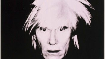 Self-Portrait (Fright Wig). - Andy Warhol: Self-Portrait (Fright Wig). Utsnitt av verket.