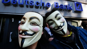 Anonymous-demonstrasjon i Cologne - Demonstrasjon i Cologne, Tyskland - Foto: WOLFGANG RATTAY / Reuters