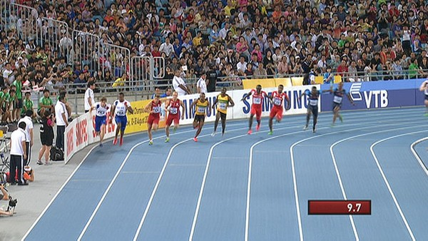 Video 100m stafett, menn - Foto: Nyhetsspiller /