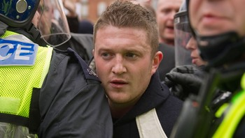 Stephen Lennon, EDL (AKATommy Robinson) - English Defence League-leiar Stephen Lennon, AKA Tommy Robinson. - Foto: LEON NEAL / Afp