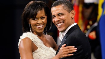 Barack og Michelle Obama på ball