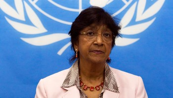 EU-CENTRALAFRICA/MISSION UN High Commissioner for Human Rights Pillay addresses a news conference in Bangui - FNs høykommissær for menneskerettigheter Navi Pillay la ikke fingrene imellom da hun kritiserte FNs sikkerhetsråd. - Foto: SIEGFRIED MODOLA / Reuters